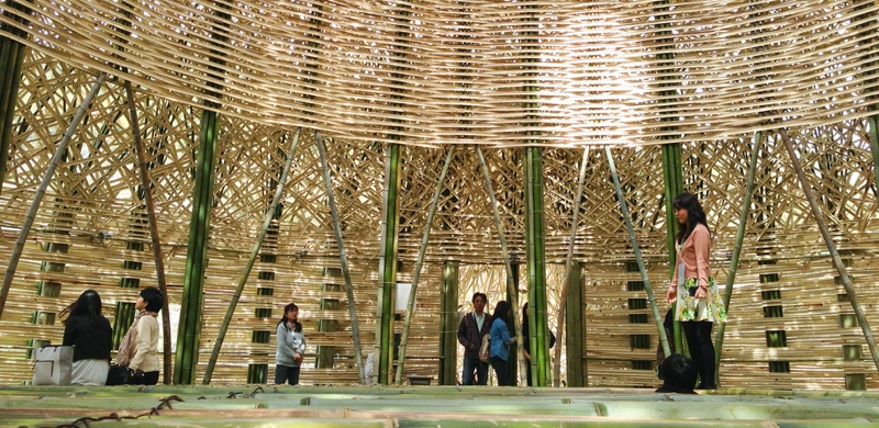 Bamboo Construction Drawing On Ancient Traditions
